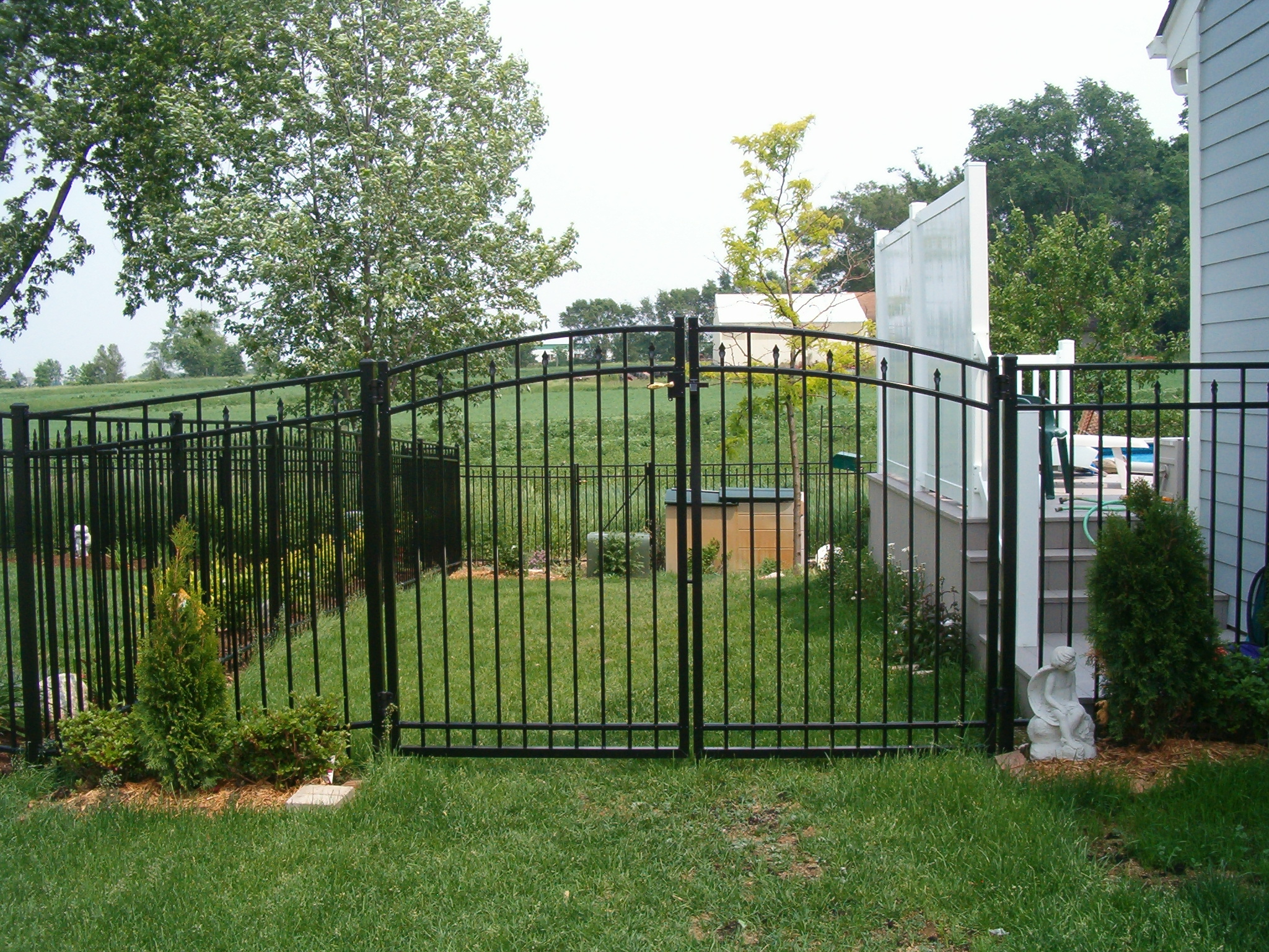 Home Depot Fencing Metal : Aluminum fence pictures with